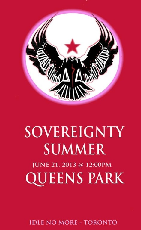 Sovereignty Summer begins! Today at noon at Queens Park!